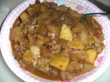 Schichtkraut - Weißkraut mit Hackfleisch und Kartoffeln geschichtet - Rezept