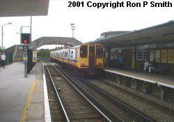 Hoylake station looking towards West Kirby