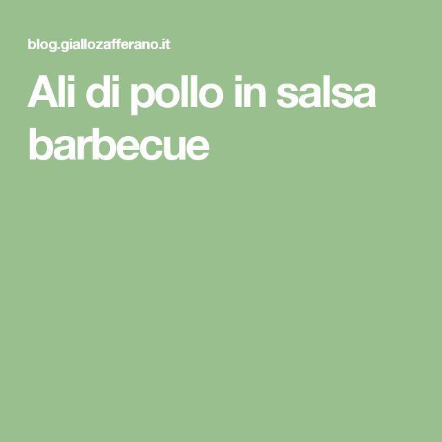 Ali di pollo in salsa barbecue