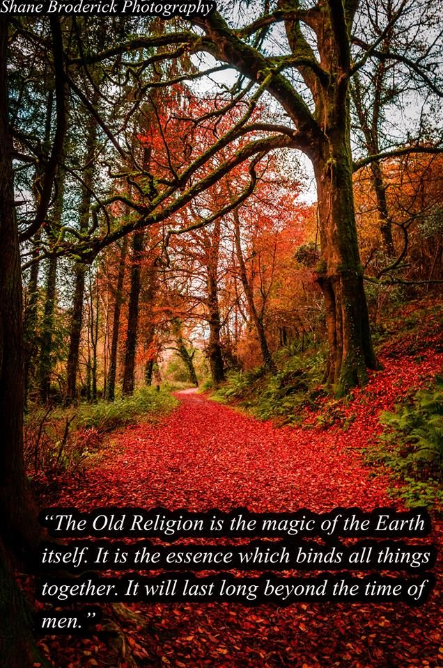 The old religion is the magic of the earth itself.