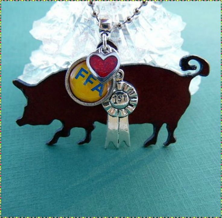 FFA Show Pig Necklace.  Get free shipping 11/7 - 12/31/2016.  Use coupon code FREESHIPPING.