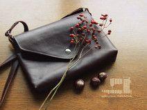 klasyczka torebka skórzana ciemny brąz