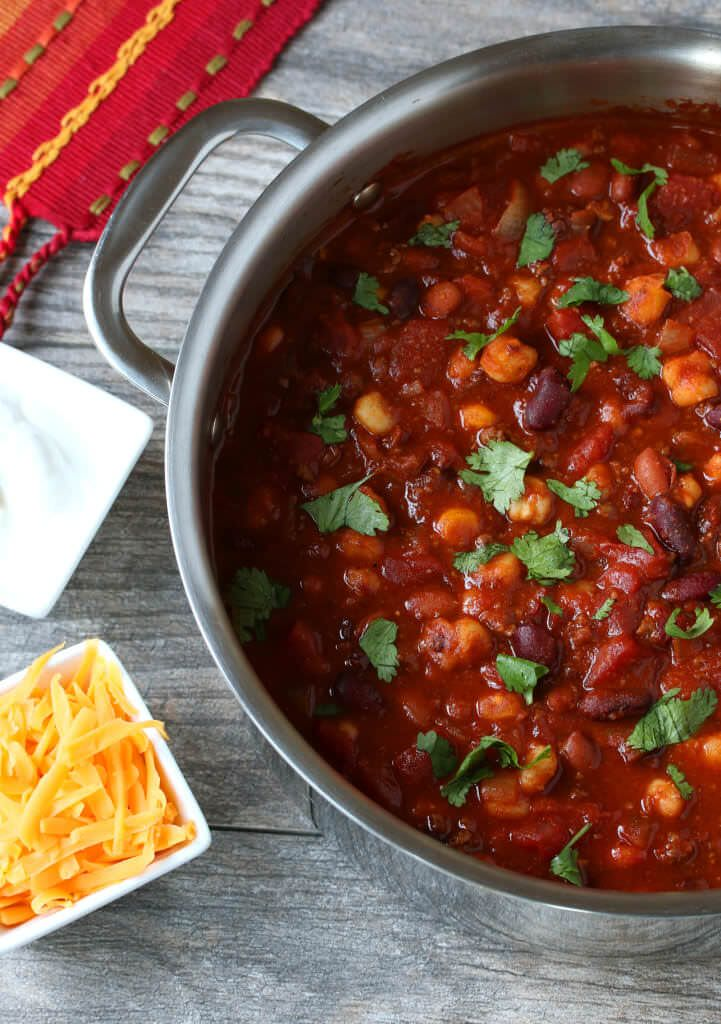 Spicy Chipotle Chili with Hominy. daringgourmet.com