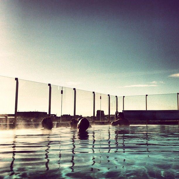 Pool - Clarion Hotel Sign - Instagram photo by @gittwillner