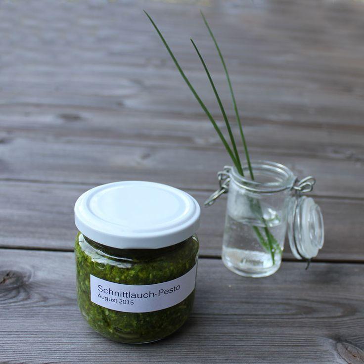 Konservierte Gartenfreude   Schnittlauch-Pesto   kugelig.com