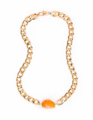 Carnelian Gold Necklace 10mm | Cathy Pope Jewellery