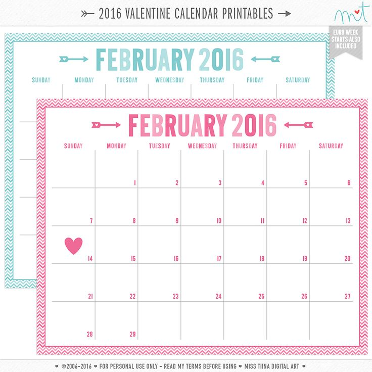 Best 20+ February 2016 Calendar Template Ideas On Pinterest