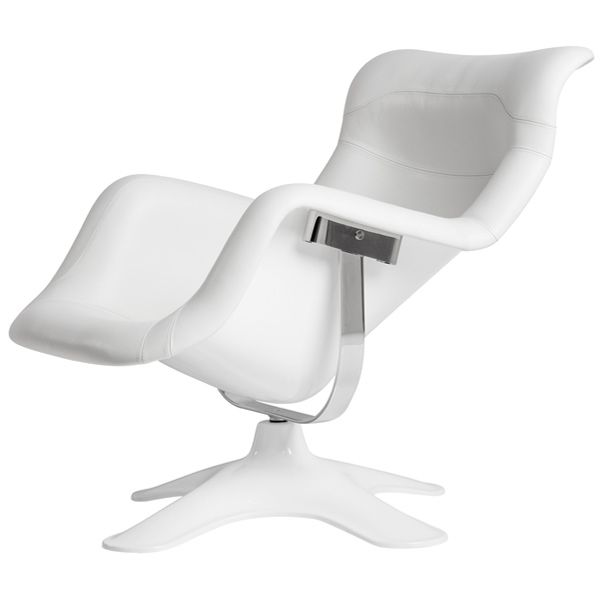 Karuselli chair, white, by Artek. Design by Yrjö Kukkapuro.