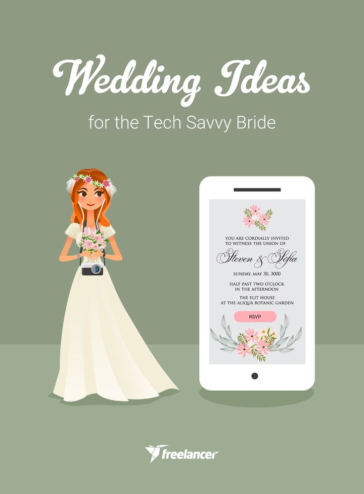 Are you a tech lover? If yes, you can't miss these wedding ideas for the tech savvy bride!