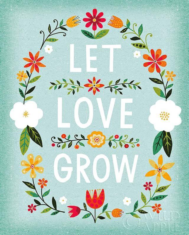 Let Love Grow #artprint