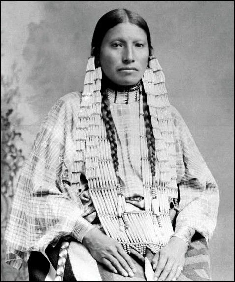 Mrs Thunder Bear, the famous interpreter among the Sioux 1891