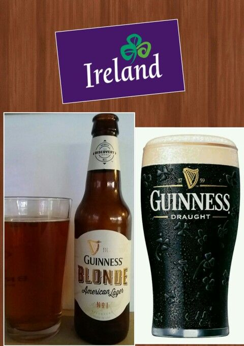 FOREIGN BEERS (Ireland) ● Guiness Blonde Lager (559) (B-) ● Guiness Draught (12) (B-)
