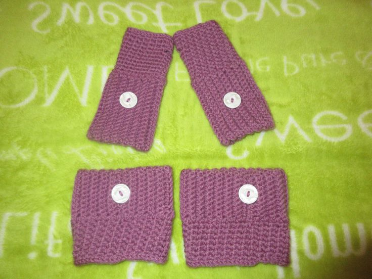 Brooklyn Boot Cuffs and Fingerless Mitts