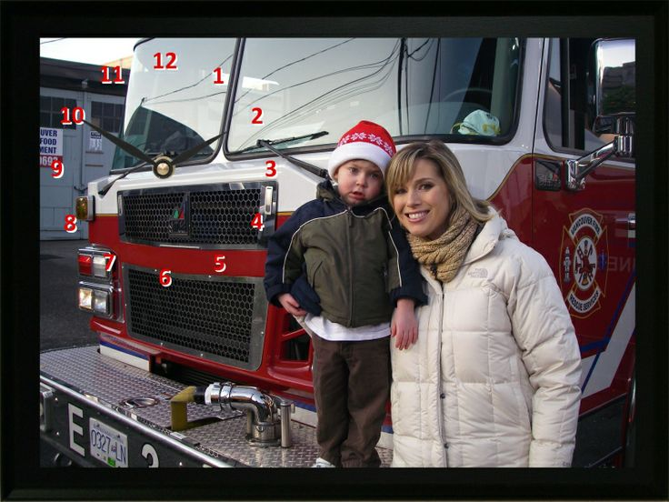 Each year we donate to the Greater Vancouver Food Bank Society. My son Nathan had his photo taken on a fire truck with BTV host Dawn Chubai
