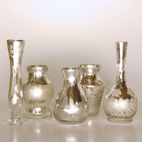Antiqued Bud Vases eclectic vases