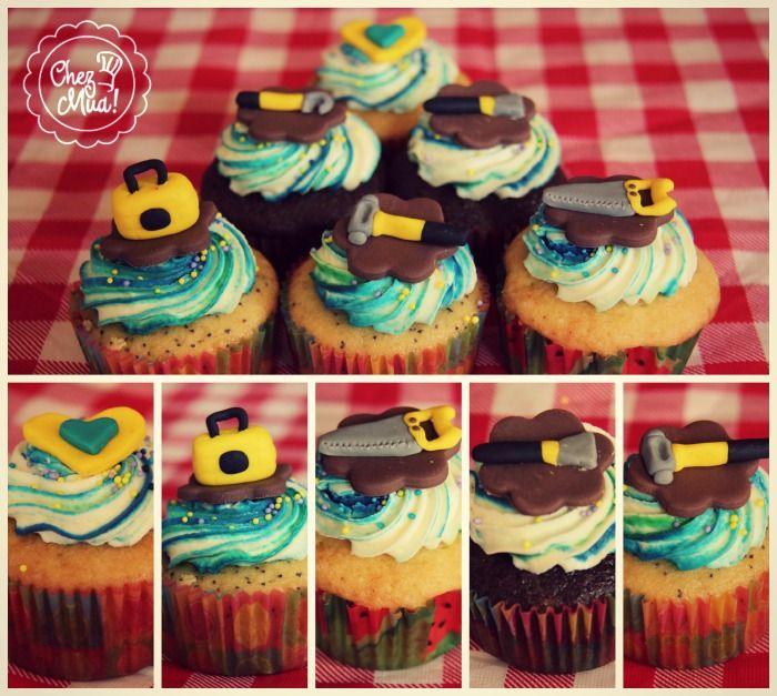 ¡Para esos artistas de la carpintería by Chez Mua!   #Cupcakes #repostería #pâtisserie #Calico #carpintería #carpintero