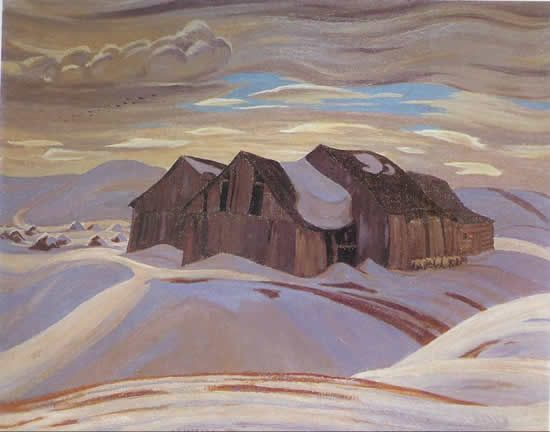 "A.Y. Jackson - one of the Canadian painters called ""The Group of Seven"""