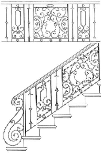 Stair Railing Designs ISR056
