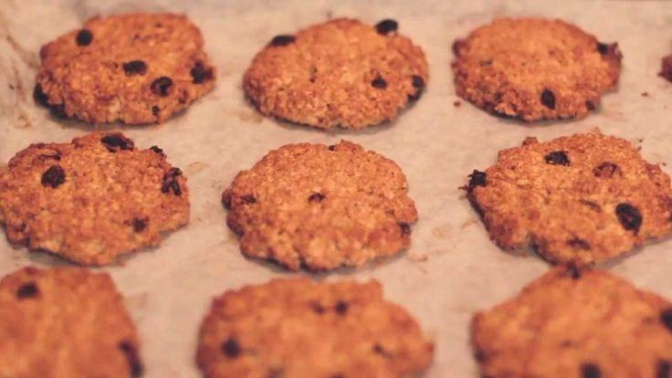 Видео-рецепт: овсяное печенье