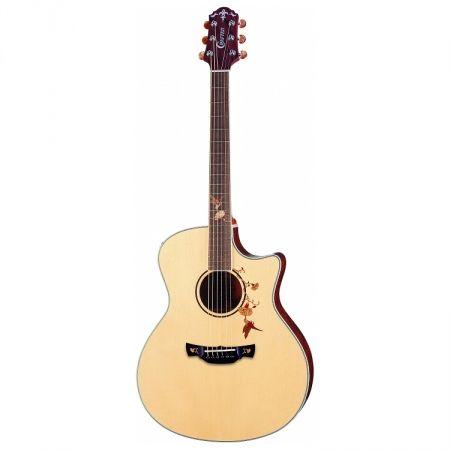 Crafter TB-BUBINGA elektrisch-akoestische western gitaar naturel