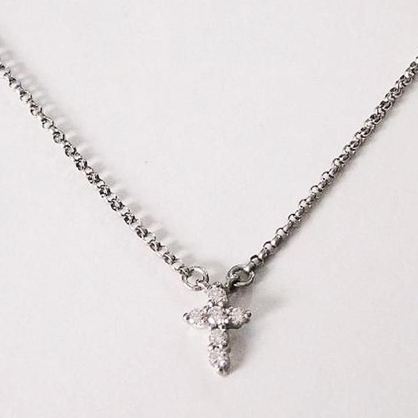 Silver Necklaces Cross Layered Necklace. This sterling silver necklace is perfect for layering with other necklaces to complete your layering look!