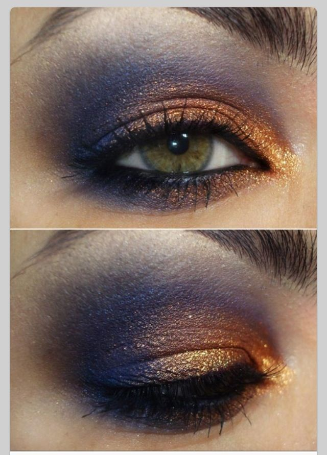 makeup purple orange eyeshadow