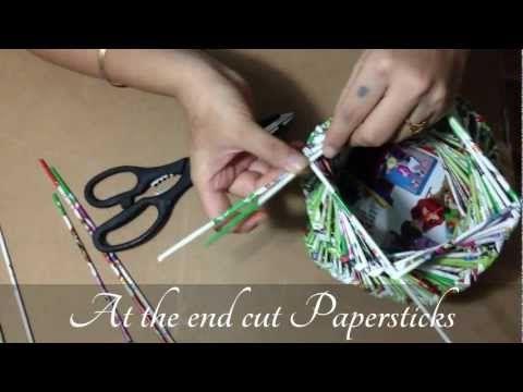 Magazine Paper Pot/Vase - YouTube