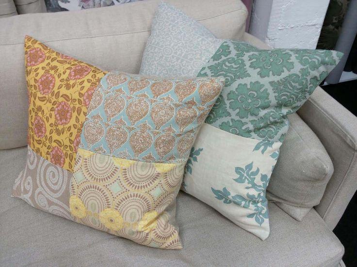 Raoul Linen Patchwork Cushions