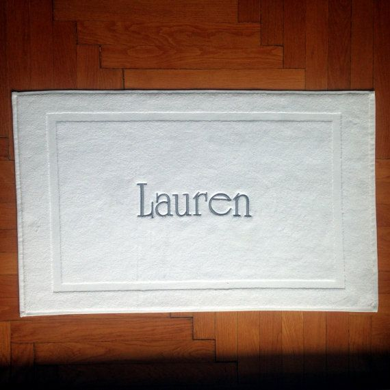Personalized BATHMAT BATH MAT embroidered Tub mat Name embroidered Bathmat egyptian  cotton. 17 best ideas about Tub Mat on Pinterest   College bathroom decor