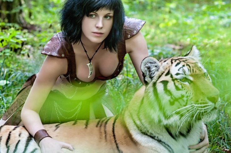 Amazon and tiger