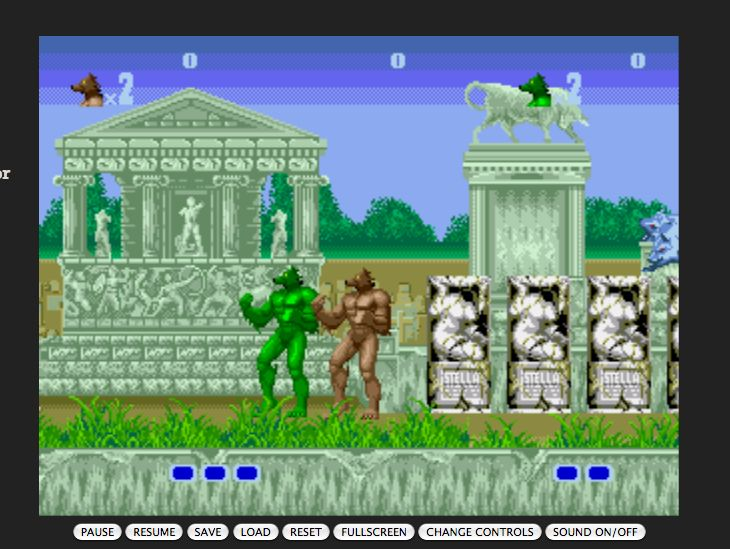 Altered Beast on the SEGA Genesis