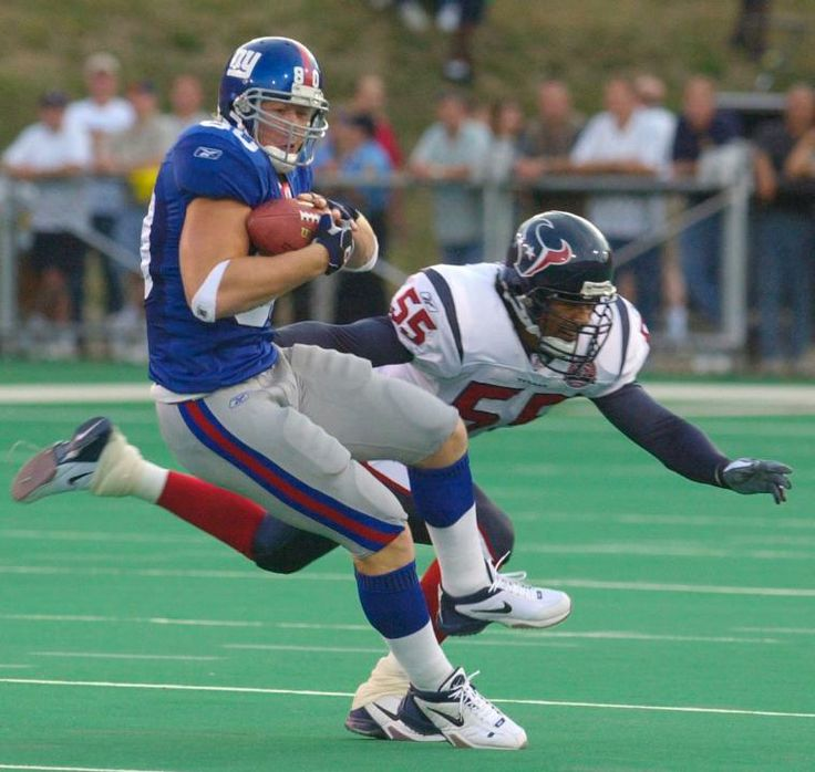 Jeremy Shockey 8/5/2002 vs. Texans 80 yds & a TD in his New York Giants/NFL debut. #nyg