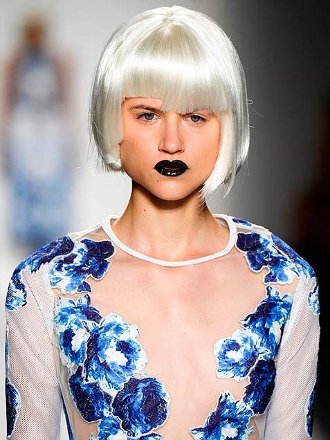Why Are Runway Clothes So Weird: Spring 2014 Runway Crazy Makeup And Hairstyles #hairstyles