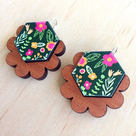 Each To Own Wintergarden Floral Drop Earrings - Black – The Tangerine Fox