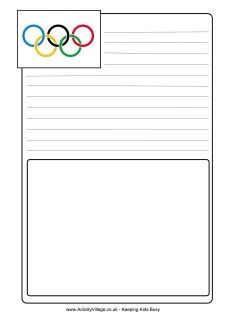 LOTS of Olympics printables for kids - a bunch of good ones for teachers to use while studying the Olympic games
