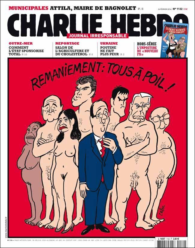 La une de la semaine par Cabu - semaine du 26 février 2014 #satire #politique #caricature