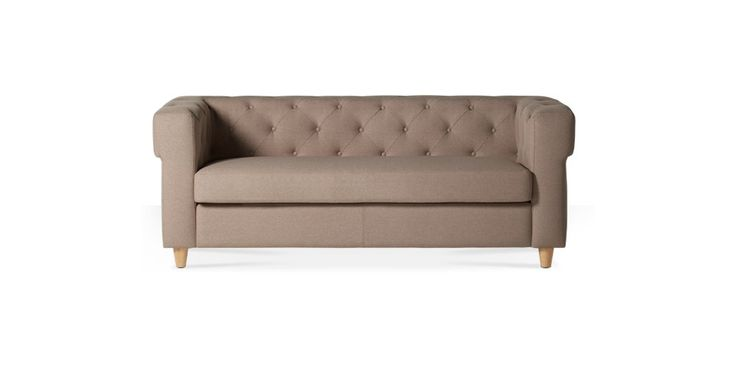 Swoon Editions Three-seater sofa, mid-century style in Biscuit - £599