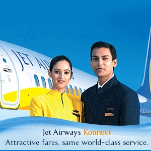 Jet Konnect is a low cost airlines provider and a brand of Jet Airways. Started in May 2009 with eight aircrafts currently Jet Konnect provides its services to many cities in India. It was really a very good decision of Jet Airways to launch low cost airlines in India with a different name i.e. Jet Konnect. Jet Konnect is one of the leading and low fare airlines in India.