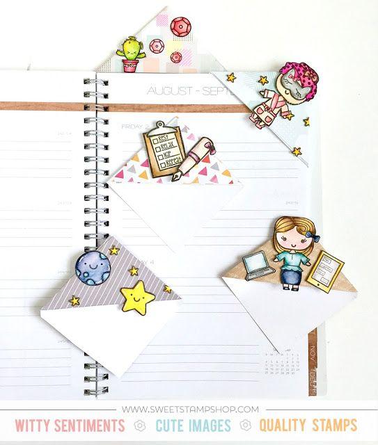 Easy Corner Bookmarks – Samantha   Sweet Stamp Shop