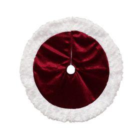 Holiday Living 18-in Red Velvet Traditional Christmas Tree Skirt
