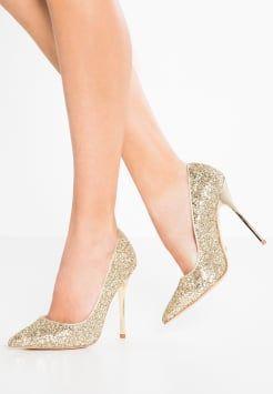 Buffalo - Hoge hakken - glitter gold