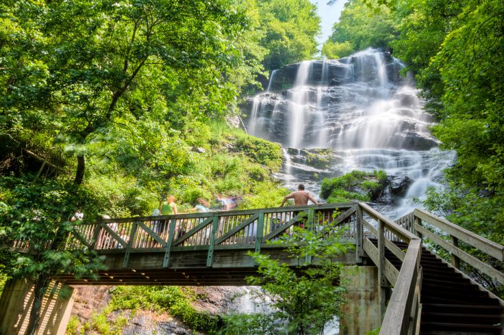 If you need to hike ONE trail in Georgia before you die, this is it. Amicola Falls near Dahlonega