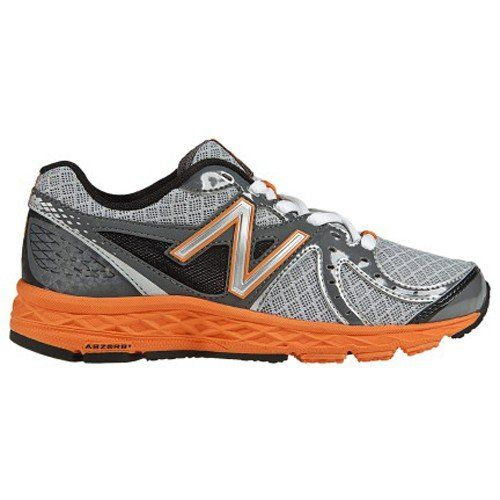New Balance 790 Lace-Up Running Shoe (Little Kid/Big Kid),Silver/Orange,6 M US Big Kid at http://suliaszone.com/new-balance-790-lace-up-running-shoe-little-kidbig-kidsilverorange6-m-us-big-kid/