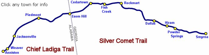 ride my bike from Atlanta to Anniston on the Silver Comet and Chief Ladiga Trail
