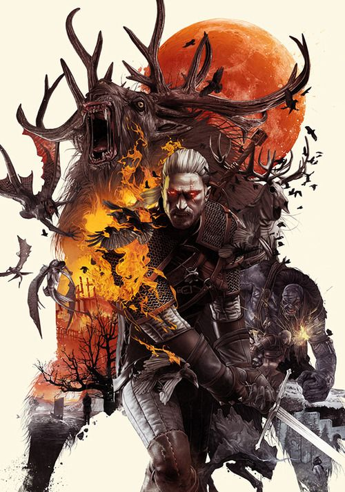 The Witcher 3! Yes! The demon moose in the background seems hilariously out of place though.