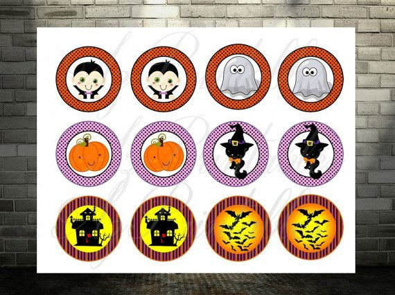SaleHalloween printable cupcake toppers Halloween by AZPrintables
