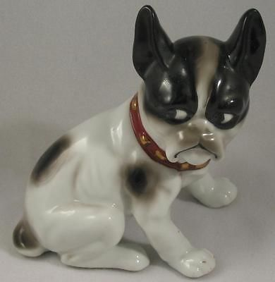 NICE-VINTAGE-PORCELAIN-FRENCH-BULLDOG-FIGURINE-HAND-PAINTED-FROM-JAPAN-NR