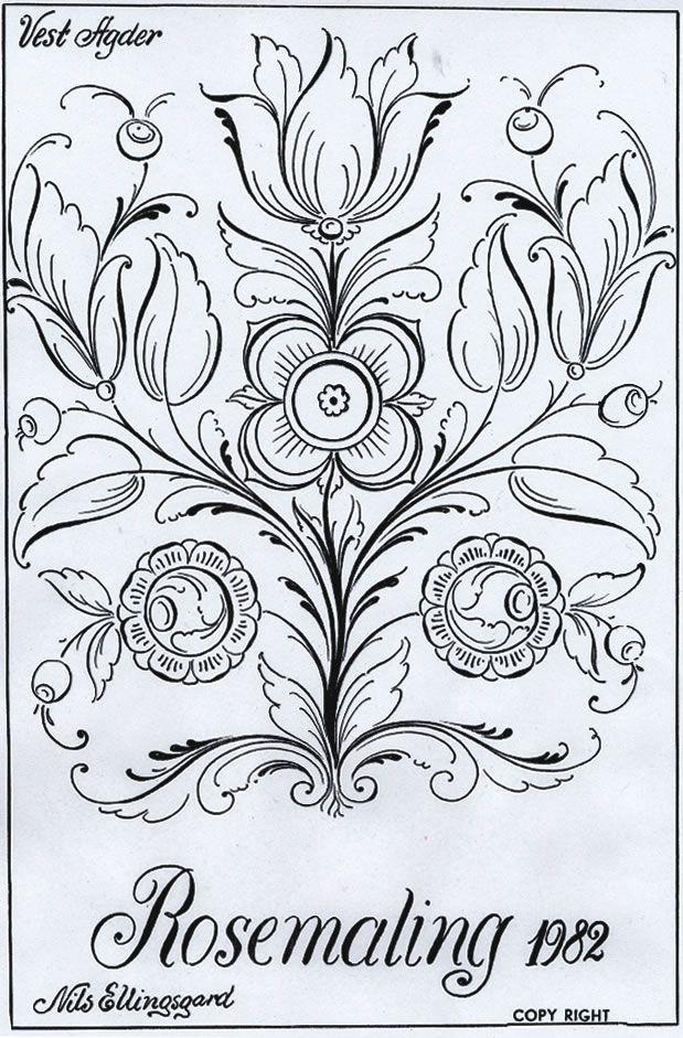 Rosemaling sketch