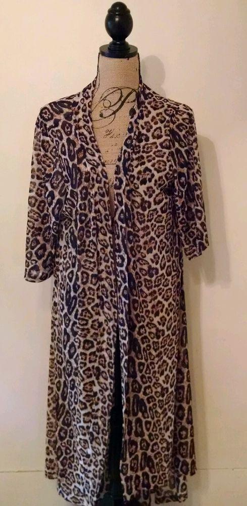 Crazy Train Clothing Dixie Duster Long Cheetah Southwestern Boho Sizes Small-Lg #CrazyTrain #Duster