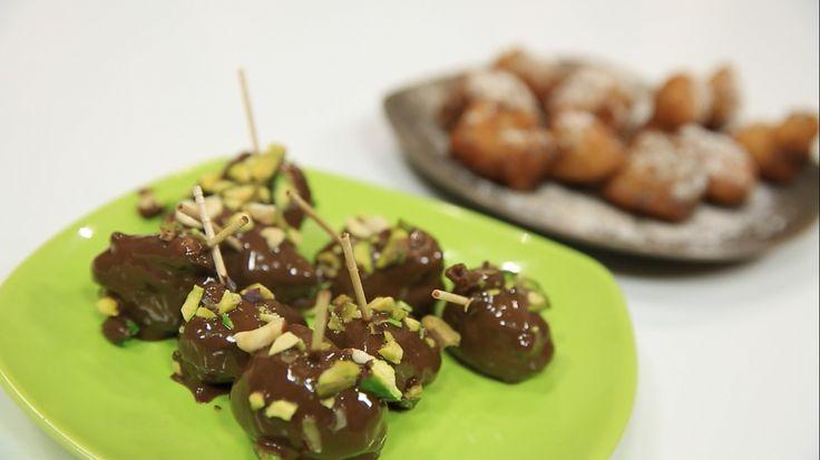 لقمة القاضى بالشوكولاته Desserts Food Cooking